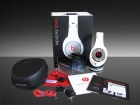 white diamond Monster Beats by Dre Studio Headphones
