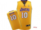 kids jerseys Lakers Nash 10# yellow