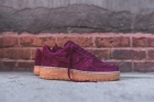 AIR FORCE 1 LOW SUEDE BURGUNDY women shoes -09